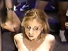 Two Blonde Cocksluts Covered In Jizz
