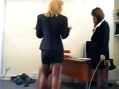 Office Gals & Railing Mistresses Brit Female Domination Cruella Abjected Servant