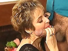 Horny Satyr Roberto Jiggles His Trickling Dick Close To Cougar's Face