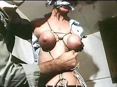 Strung Up - Antique Restraint Bondage Breasts Restrained Cock-squeezing