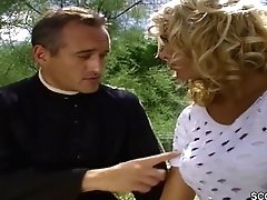 Horny Priest Wants To Touch Big Jummy Tits Of Gorgeous Blonde