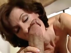 Old School Cougar Porn Industry Star Idolizes Very Thick Pulsing Dick
