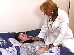 Antique Blonde Cougar Physician In Hot Undergarments Passionately Fucks Her Patient
