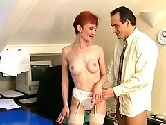 Big-dicked Man Wants Skinny Matures Dame In The Office