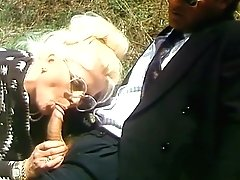 Blonde Mummy In Big Glasses Deep Throats Leaned Wiener Outdoor