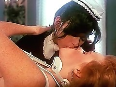 Sexy Youthfull French Maid Smooches With Girl/girl Housewife