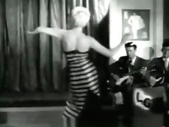 Inviting Blonde Performs A Striptease (1950s Antique)