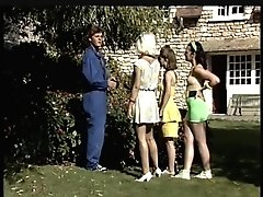 Three Retro Teenager Breezies Wanna Share Thick Boner Outdoor