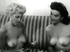 Miss January 1954 Margie Harrison With Barbara Lyles - Summer Night
