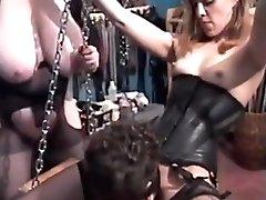 Female Dominance Strap Dildo Threesome